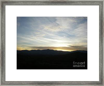 Sunset Framed Print by Debbie Wells