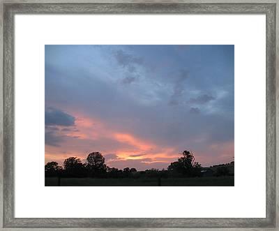 Sunset  Framed Print by Debra Madonna