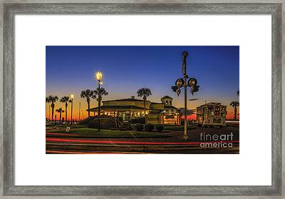 Framed Print featuring the photograph Sunset Diner by Paula Porterfield-Izzo