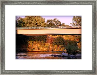 Framed Print featuring the photograph Sunset Dip by Melanie Lankford Photography