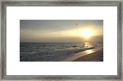 Sunset Down Framed Print by Debra Forand