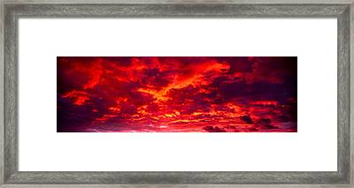 Sunset Dragoon Mountains Az Framed Print by Panoramic Images