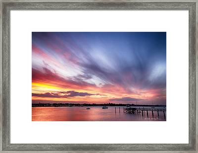 Sunset Dreams Framed Print by Kathy Ponce