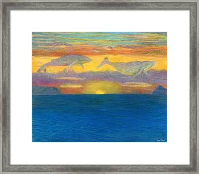 Sunset Drifters Framed Print by Kenneth Grzesik