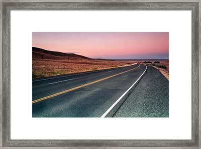 Sunset Drive Framed Print