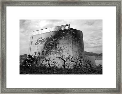 Sunset Drive-in Framed Print
