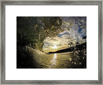 Sunset Drops Framed Print