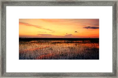Sunset. East Lake Toho. Framed Print