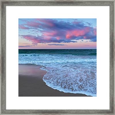 Sunset East Square Framed Print