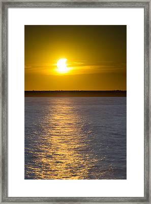 Sunset Eclipse Framed Print by Chris Bordeleau
