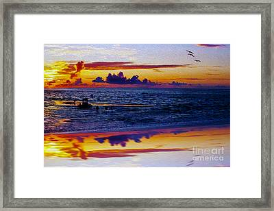 Sunset En Deux Framed Print