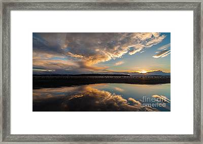 Sunset Evening Conclusion Framed Print