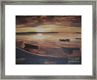 Sunset Evening Tide Framed Print