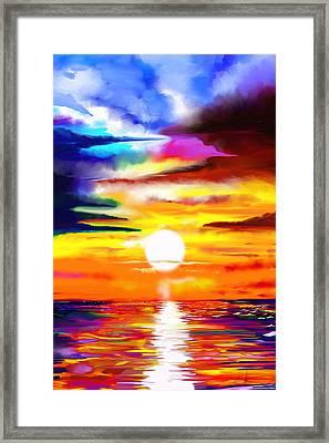 Sunset Explosion Framed Print