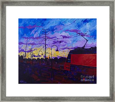 Sunset Express Framed Print