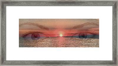 Sunset Eyes Inspirational Art By Saribelle Rodriguez Framed Print by Saribelle Rodriguez