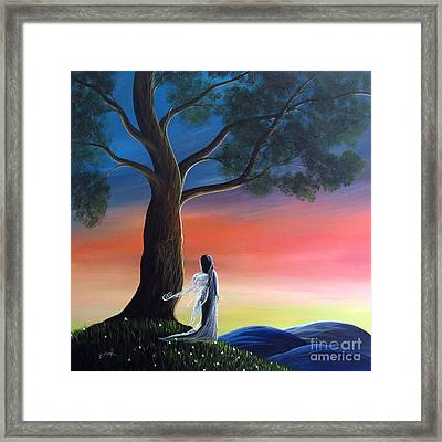 Sunset Fairy By Shawna Erback Framed Print