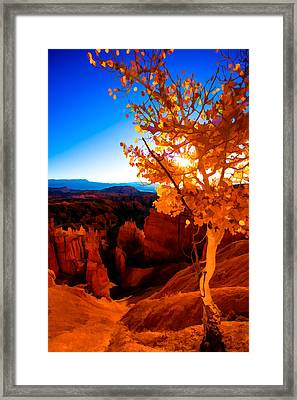 Sunset Fall Framed Print by Chad Dutson