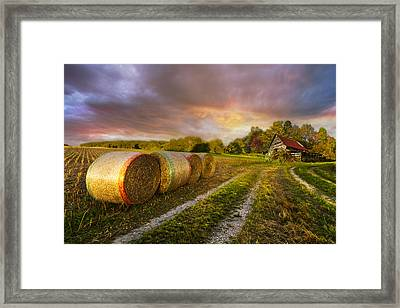 Sunset Farm Framed Print