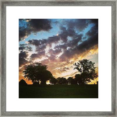 Framed Print featuring the photograph Sunset Federal Hill by Toni Martsoukos