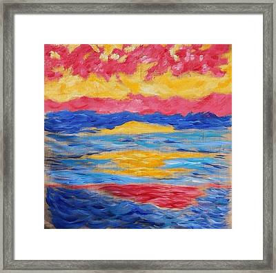 Sunset Framed Print by Felicia Roberts
