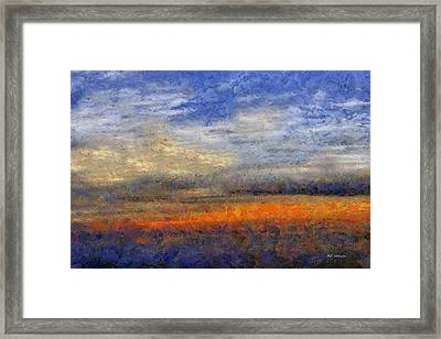 Sunset Field Framed Print by RC deWinter