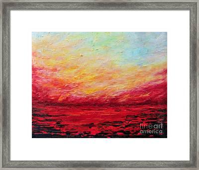 Sunset Fiery Framed Print by Teresa Wegrzyn