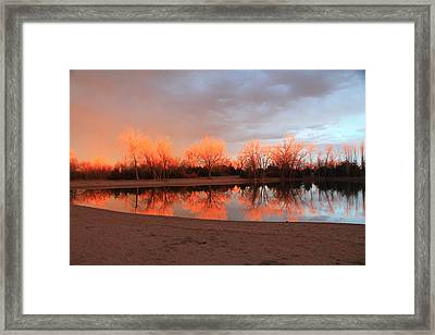 Sunset Fire Framed Print