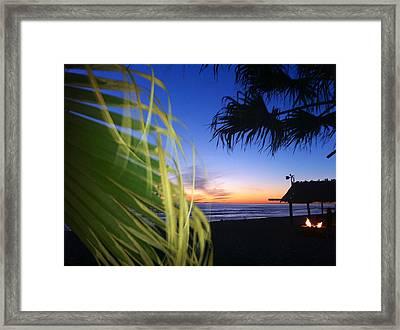 Sunset Fire At Sano Framed Print