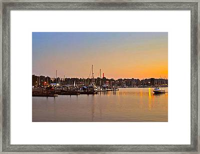 Sunset Fishing Framed Print by Frozen in Time Fine Art Photography