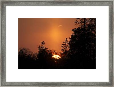 Sunset Flare Framed Print