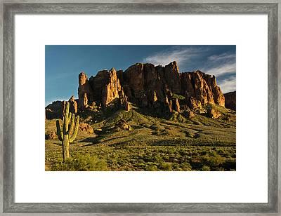 Sunset, Flat Iron Mountain, Lost Framed Print by Michel Hersen