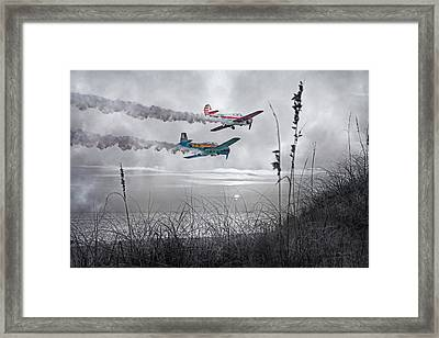Sunset Flight Framed Print by Betsy Knapp