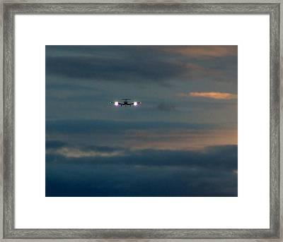 Sunset Flight Framed Print by George Cousins