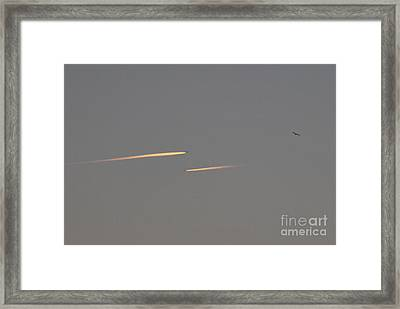 Sunset Flyby Framed Print
