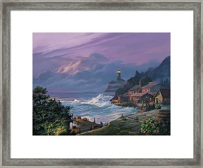 Sunset Fog Framed Print by Michael Humphries