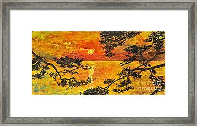 Sunset For My Parents Framed Print by Teresa Wegrzyn