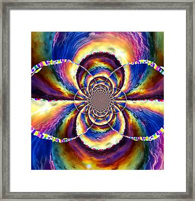 Sunset Fractal Framed Print