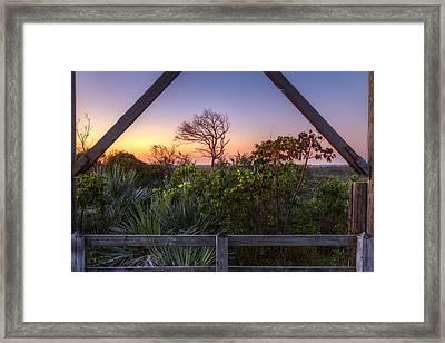 Sunset Frame Framed Print