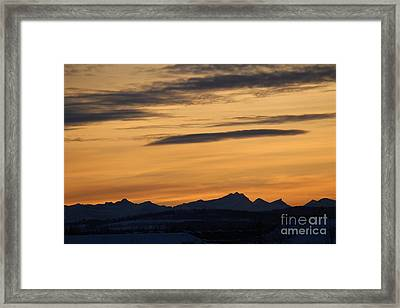Framed Print featuring the photograph Sunset From 567 by Ann E Robson