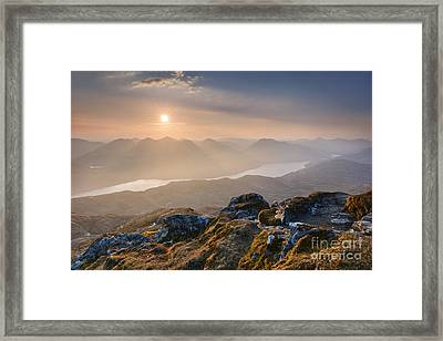 Sunset From Ben Lomond Framed Print by Rod McLean