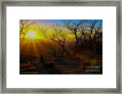 Sunset From Blood Mountain Framed Print