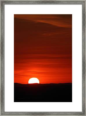 Sunset From Cadillac Mountain Framed Print by Acadia Photography