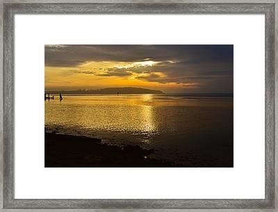 Sunset From Fields Landing Framed Print