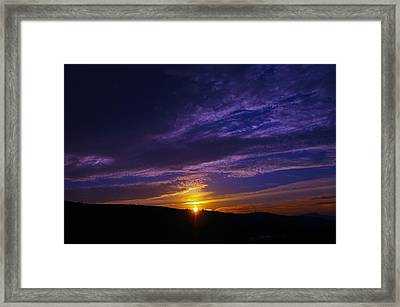 Sunset From Lyle Wa Framed Print by Jeff Swan