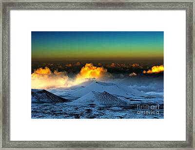 Sunset From Mauna Kea Framed Print by Karl Voss