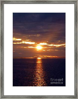 Sunset From Peace River Bridge Framed Print by Barbie Corbett-Newmin