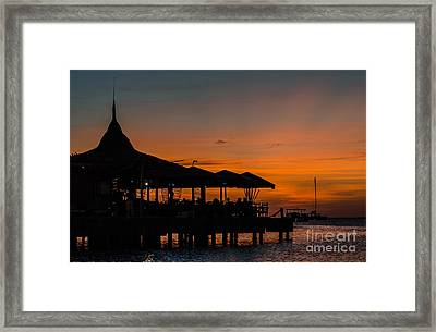 Sunset From Pelican Pier Framed Print