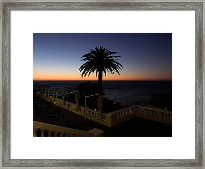 Sunset From Porch Of Ellerman House Framed Print