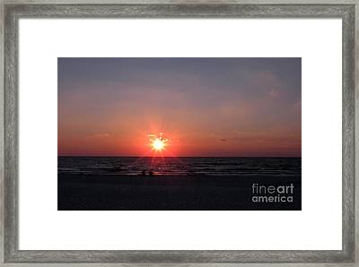 Sunset From Port St. Joseph Peninsula Framed Print by Lora Duguay
